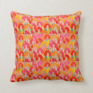 Retro 1960s / 60s Neon Throw Pillow