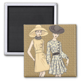 Retro 1960s Fashion Magnet