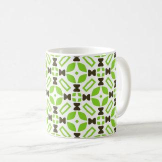 Retro 1960s Style Geometric Pattern Coffee Mug