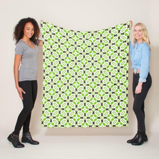 Retro 1960s Style Geometric Pattern Fleece Blanket