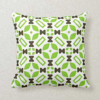 Retro 1960s Style Geometric Pattern Throw Pillow
