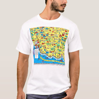 Retro 1966 Cincinnati, Ohio map t-shirt