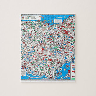 Retro 1966 Ohio map Jigsaw Puzzle