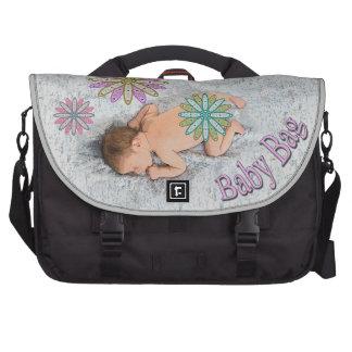 Retro 1970's Sleeping Baby on Blanket Diaper Bag For Laptop