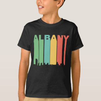 Retro 1970's Style Albany New York Skyline T-Shirt