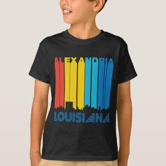 Retro 1970's Style Alexandria Louisiana Skyline T-Shirt