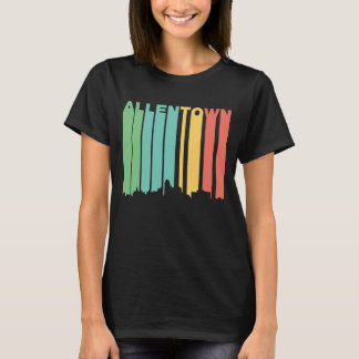 Retro 1970's Style Allentown Pennsylvania Skyline T-Shirt