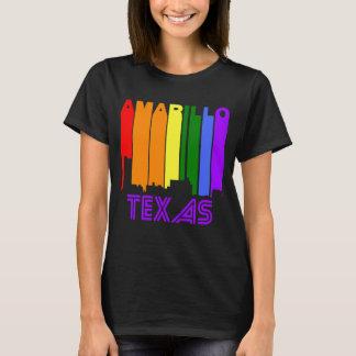 Retro 1970's Style Amarillo Texas Skyline T-Shirt