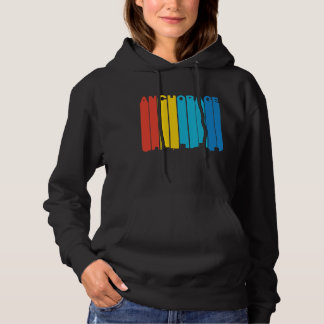 Retro 1970's Style Anchorage Alaska Skyline Hoodie