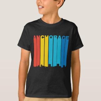 Retro 1970's Style Anchorage Alaska Skyline T-Shirt