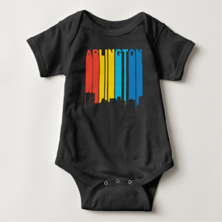 Retro 1970's Style Arlington Texas Skyline Baby Bodysuit