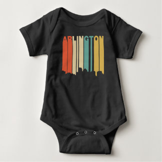 Retro 1970's Style Arlington Virginia Skyline Baby Bodysuit