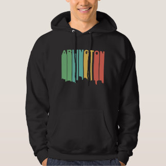Retro 1970's Style Arlington Virginia Skyline Hoodie