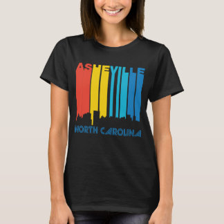 Retro 1970's Style Asheville North Carolina Skylin T-Shirt