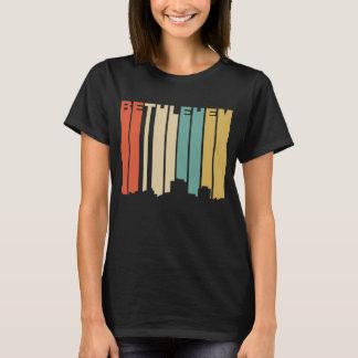 Retro 1970's Style Bethlehem Pennsylvania Skyline T-Shirt