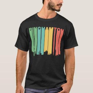 Retro 1970's Style Binghamton New York Skyline T-Shirt