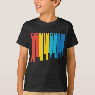 Retro 1970's Style Birmingham Alabama Skyline T-Shirt