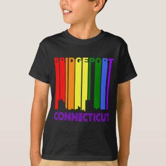 Retro 1970's Style Bridgeport Connecticut Skyline T-Shirt