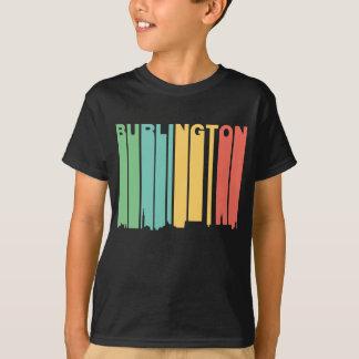 Retro 1970's Style Burlington Vermont Skyline T-Shirt