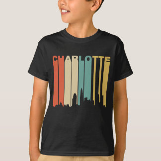 Retro 1970's Style Charlotte North Carolina Skylin T-Shirt