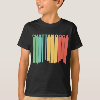 Retro 1970's Style Chattanooga Tennessee Skyline T-Shirt