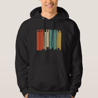 Retro 1970's Style Columbia South Carolina Skyline Hoodie