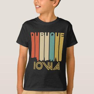 Retro 1970's Style Dubuque Iowa Skyline T-Shirt