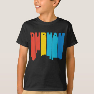 Retro 1970's Style Durham North Carolina Skyline T-Shirt