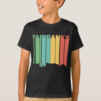 Retro 1970's Style Fairbanks Alaska Skyline T-Shirt