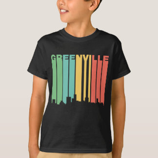 Retro 1970's Style Greenville South Carolina Skyli T-Shirt