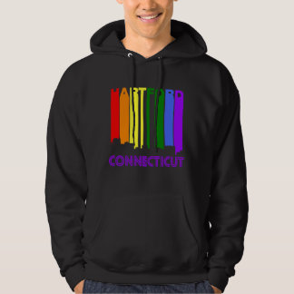 Retro 1970's Style Hartford Connecticut Skyline Hoodie