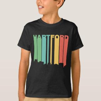 Retro 1970's Style Hartford Connecticut Skyline T-Shirt