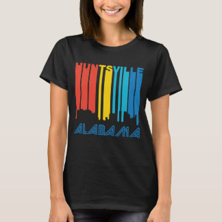 Retro 1970's Style Huntsville Alabama Skyline T-Shirt