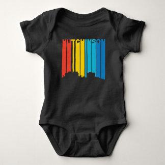 Retro 1970's Style Hutchinson Kansas Skyline Baby Bodysuit
