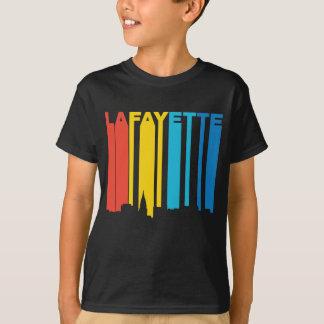 Retro 1970's Style Lafayette Indiana Skyline T-Shirt