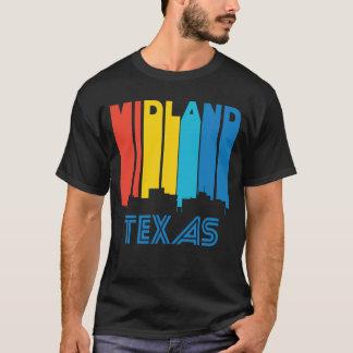 Retro 1970's Style Midland Texas Skyline T-Shirt