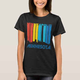 Retro 1970's Style Minneapolis Minnesota Skyline T-Shirt