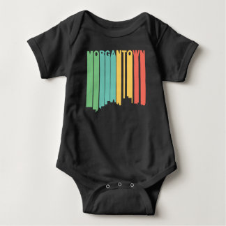 Retro 1970's Style Morgantown West Virginia Skylin Baby Bodysuit