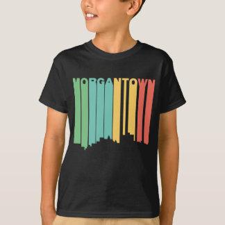Retro 1970's Style Morgantown West Virginia Skylin T-Shirt