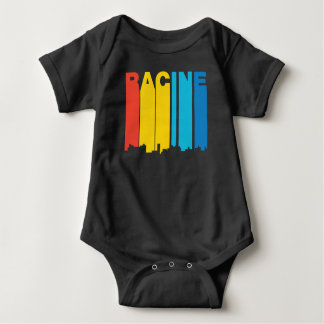 Retro 1970's Style Racine Wisconsin Skyline Baby Bodysuit