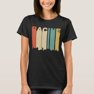 Retro 1970's Style Racine Wisconsin Skyline T-Shirt