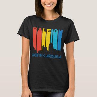 Retro 1970's Style Raleigh North Carolina Skyline T-Shirt