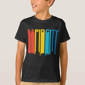 Retro 1970's Style Rapid City South Dakota Skyline T-Shirt