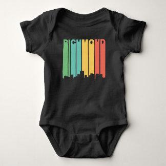 Retro 1970's Style Richmond Virginia Skyline Baby Bodysuit