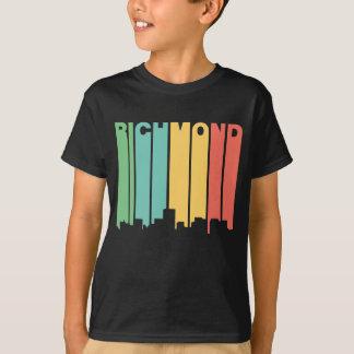 Retro 1970's Style Richmond Virginia Skyline T-Shirt