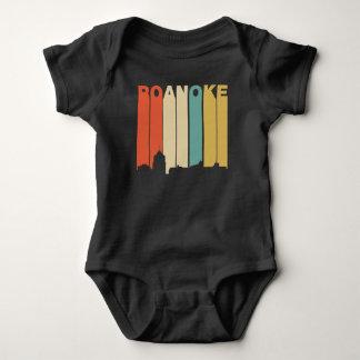 Retro 1970's Style Roanoke Virginia Skyline Baby Bodysuit