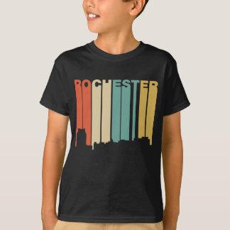 Retro 1970's Style Rochester Minnesota Skyline T-Shirt