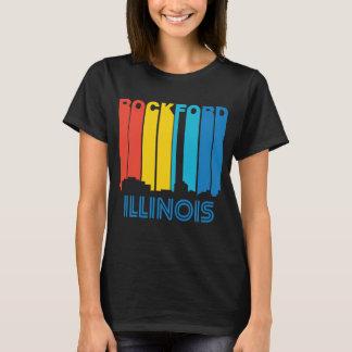 Retro 1970's Style Rockford Illinois Skyline T-Shirt