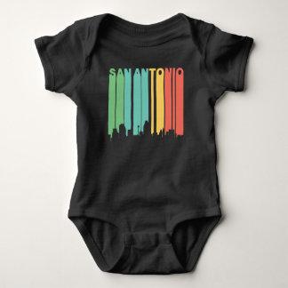 Retro 1970's Style San Antonio Texas Skyline Baby Bodysuit
