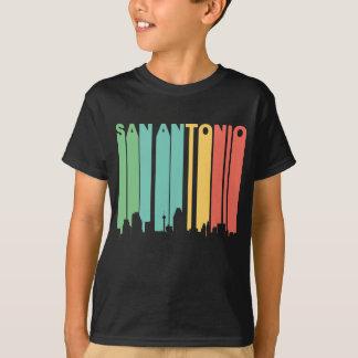 Retro 1970's Style San Antonio Texas Skyline T-Shirt